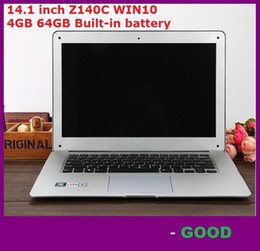 Atacado 14.1 polegada ultrabook computador portátil slim Itel Atom X5-Z8300 Z140C Quad-core laptop 4 GB 64 GB WIFI Windows 10 laptop notebook