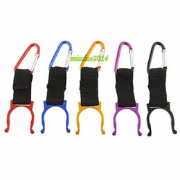 $enCountryForm.capitalKeyWord Canada - New Carabiner Belt Clip Key Chain Water Bottle Hook Clamp Holder Outdoor Aluminum Buckle 2000pcs Free Shipping
