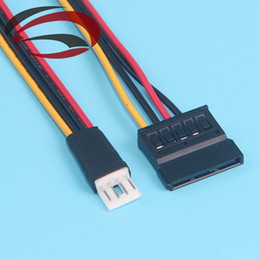 Wholesale Pin FDD Floppy Male to Pin SATA Female Adapter Converter Hard Drive Power Cable Cord cm