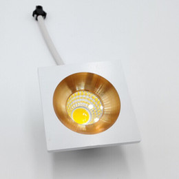 aluminum recessed ceiling lights Australia - White Warm MINI Square Dimmable 5W High Power LED Recessed Ceiling Down Light Lamps LED Downlights for Living Room Cabinet Bedroom