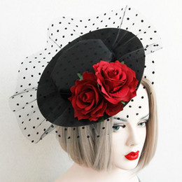 Pin For Wedding Dress NZ - sexy party hat dress Wedding hair pin Vintage Flower mesh Hair Accessories Bridal Head Hats For Christmas Wedding Party dress Fascinator
