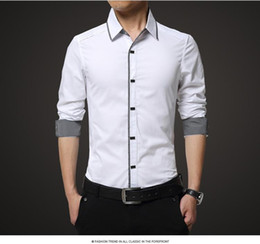 Discount Mens White Formal Shirts | 2017 Formal Mens Black White ...