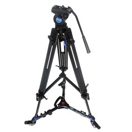 Benro Camera Canada - Pro Video Fluid Drag Tripod Benro KH25N + 3 Wheels Support Skater Dolly For Canon Sony Panasonic Camera Camcorder Free DHL