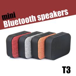 Bluetooth Art Canada - T3 Fabric Art Wireless Bluetooth Speakers Outdoor Portable Mini Audio Subwoofer Colour Mini Speaker Support TF card FM U Disk