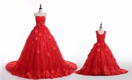 Chinese  Strapless Sweetheart Ball Gown Sash Bow Tulle Sweep Train Can Be Made For Child Beautiful Wedding Gown Wedding Dresses manufacturers