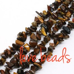 wholesale blue eye bracelet NZ - Natural Yellow Tiger Eye Irregular Gravel Stone 5mm-8mm Freeform Loose Beads For wholesale Diy Bracelet Strand 80CM(F00333) wholesale