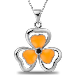 China summer popular necklace,clover elegant two love heart necklace, concise classic crystal necklace,korean style diamante necklace LG19340 suppliers