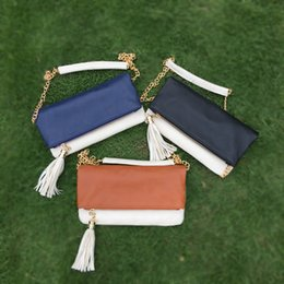 $enCountryForm.capitalKeyWord Canada - Wholesale Blanks PU Faux Leather Material Shoulder Bag Camel Joint Crossbody Bag Messenger Bag Fold Over Bag with Tassel DOM103190