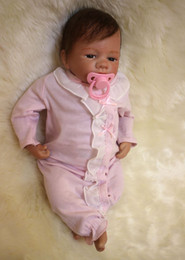 girls rag dolls Canada - 50cm 20inch Newborn Handmade Reborn Baby Doll Girl Life like Soft Vinyl silicone Soft Gentle Touch Cloth Body Magnetic pacifier