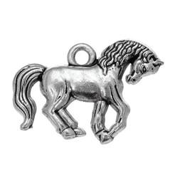 $enCountryForm.capitalKeyWord UK - Antique Silver Horse Animal Pendant Charm in Jewelry Making