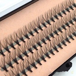 IndIvIdual fake eyelashes online shopping - High Quality Fashion Professional Makeup Individual Cluster Eye Lashes Grafting Fake False Eyelashes with