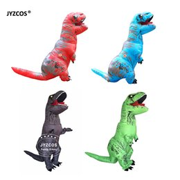 Costumes Dino Adultes Pas Cher-Costume d'inosaure Gonflable Dinosaur Costume Adulte Enfants T Rex Dino Rider Tenue Cosplay Pourim Halloween Dragon Partie Carnaval Blow Up Fanc ...