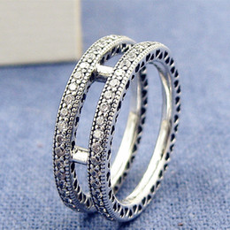 a2f9ed380 ... new zealand 3 photos pandora heart rings nz high quality 100 925 sterling  silver double hearts