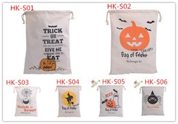 $enCountryForm.capitalKeyWord Canada - 6 style Halloween Large Canvas bags cotton Drawstring Bag With Pumpkin devil spider Hallowmas Gifts Sack Bags