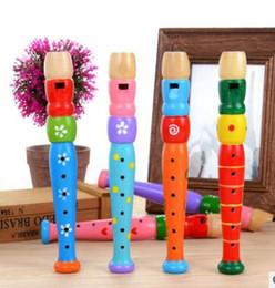 $enCountryForm.capitalKeyWord Canada - Colorful Fun Baby Kids Wooden Flute Whistle Musical Education Toys Portable Developmental Instrument
