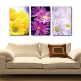 Boat Landscape Oil Painting UK - unframed art picture 3 Pieces picture Home decoration Canvas Prints Chrysanthemum leaf Bamboo Abstract cartoon trees horse sea Sailing boat