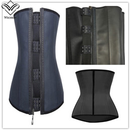 Barato Xs Do Corset Do Underbust-Atacado-Latex espartilho cintura Espartilhos e Bustiers Borracha Gaine Latex Affinant La Taille Bustier Zipper Fitness Underbust Corset Esporte