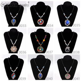 black multi dress Canada - New Arrivals Bohemia Styles Pendent necklace charms for Woman Multi Styles Fit Bohemia vintage Dress Fine Necklaces pendants Jewelry XL33-41