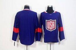 Hockey jersey suter For Sale - 2016 World Cup Blank Team USA Hockey Jerseys Joe Pavelski Zach Parise Ryan Kesler Suter Ben Bishop World Cup of Hockey Jersey