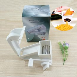 $enCountryForm.capitalKeyWord Canada - Rotary Cheese Grater Chocolate Nuts Shredder Sharp Stainless Steel Drums Razor Slicer Handheld Slicer Cheese Cutter 150pcs