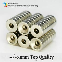 Neodymium Magnets Mm Canada - 60pcs Countersunk Hole Magnet Diameter 12x4 (+ -0.1)mm Thick M4 Screw Countersunk Hole Neodymium Rare Earth Permanent Magnet