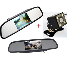 China Auto Parking Assistance System 2 in 1 4.3 Digital TFT LCD Mirror Car Parking Monitor + 170 Degrees Mini Car Rear view Camera suppliers