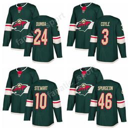 38a87bc8d532 ... Minnesota Wild 24 Matt Dumba Jersey 2018 Custom Green 46 Jared Spurgeon  3 Charlie Coyle Ice ...