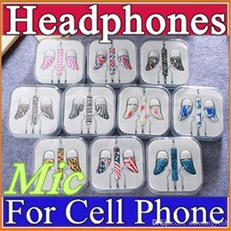 Mp3 Music For Cell Phones NZ - Painting Earphone High Quality 3.5MM Music Headphone In-Ear Stereo Headset with Mic for iPhone6 6s Android Cell Phone Tablet Mp3 Mp4 L-EM