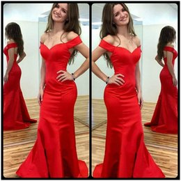 fashion girl model dress 2019 - Fashion Red Cap Sleeve Mermaid Prom Dresses 2017 Sexy V Neck Backless Long Evening Party Gowns Cheap Long Dresses For Gi