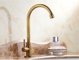 vintage brass kitchen faucet bathroom bronze faucets deck mounted rotatable ceramic valve single handle 1 hole antique brass taps - Brass Kitchen Faucet