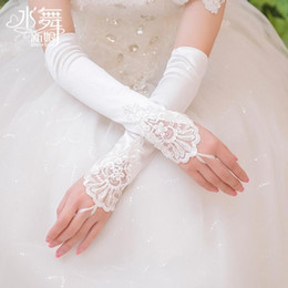 Cheap long white gloves online shopping - Cheap Lace Bridal Gloves Long Fingerless Above Elbow Length New Arrival Bride Glove Wedding Accessories Fast Shipping