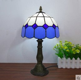 stained glass desk lamps 2019 - Table Lamps European Table Light Bedroom Bedside Desk Table Light 3w Diameter 20cm Free Shipping cheap stained glass des
