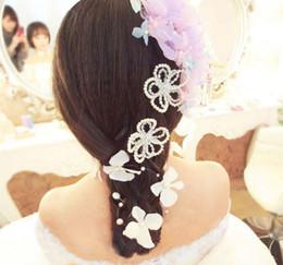 Bridal Fabric Flower Hair Clips NZ - hair accessories Princess bridal headdress Wedding Flower Hair Jewelry Exquisite Hair Pins Clips Wedding Headdress Jewelry Accessories