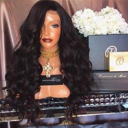 Ingrosso Parrucche piene del merletto delle parrucche del merletto delle parrucche piene del merletto dell'onda del merletto delle parrucche della parte anteriore del merletto peruviano per le donne di colore