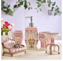 2017 special bathroom accessories porcelain bathroom sets european design special shape sfive piece set bathroom