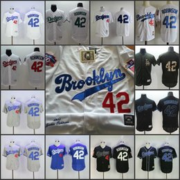 145d56b4 ... Throwback Jersey Los Angeles Dodgers 42 Jackie Robinson Black White  Collection 1955 Hall Of Fame Dual Patch Stitched ...