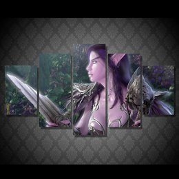 canvas prints free shipping Australia - 5 Pcs Set Framed Printed Game characters Painting Canvas Print room decor print poster picture canvas Free shipping ny-5061