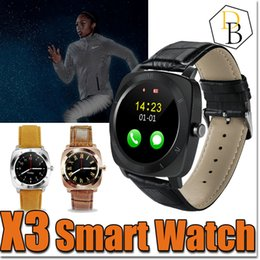 Wholesale micro gps tracker online shopping - x3 Smartwatch Bluetooth Smart Watch dz Android with M Camera MTK6261D Smartwatch Android Phone Micro Sim TF Card With Retail Package