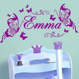 butterfly children room NZ - Butterfly Custom Name Vinyl Butterflies on the Wall Sticker For Children Girls Room Decoration Art Wall Decals For Kids Room