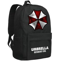 umbrella packing UK - Umbrella backpack Resident evil school bag Popular game daypack Quality schoolbag Outdoor rucksack Sport day pack