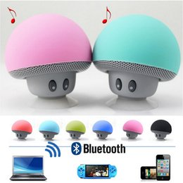 mobile phone speaker mic Canada - Wireless Mini Bluetooth Speaker Portable Mushroom Waterproof Stereo with Mic Handfree Subwoofers for Mobile Phone iPhone Xiaomi Computer