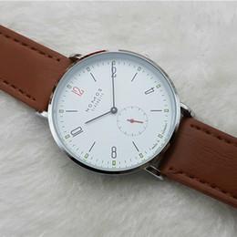 Опт 2016 новый бренд NOMOS кварцевые часы любители часы женщины мужчины платье часы кожа платье наручные часы мода повседневная часы