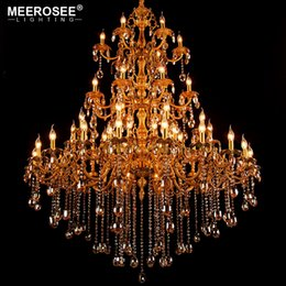 Large Crystal Chandelier Light Fixture Hanging Lamp For Restaurant Hotel Project Huge Lustres Luminaires Lighting