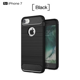 Wholesale Brush Carbon Fiber Hybrid Armor Case For Iphone X XS MAX XR Plus S SE S Soft TPU Rubber PC ShockProof Ipaky Cell Phone Skin Cover
