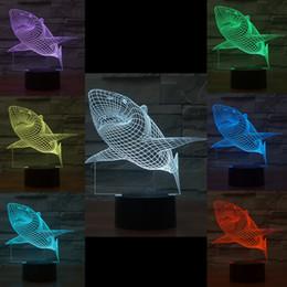 $enCountryForm.capitalKeyWord NZ - Mixed Lot Shark 3D Optical Night Light 10 EDs Acrylic Light Panel Battery DC 5V Factory Wholesale