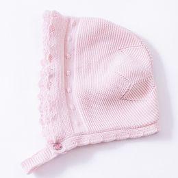 $enCountryForm.capitalKeyWord UK - Wholesale 2016 Pink Cute Baby Hat Soft Cotton Crochet Baby Beanies Kids Fall Winter Hat Baby Cap Handmade Knit Windproof Earmuffs Ca