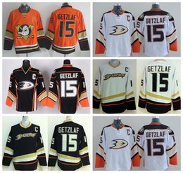 c29a502e3 Anaheim Ducks 15 Ryan Getzlaf Jersey Sport Stadium Series Ice Hockey Black  White Orange Team Color For Sport Fans Embroider Logos ...