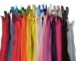 $enCountryForm.capitalKeyWord Canada - 29Pcs 60CM Nylon Invisible Zippers For DIY Sewing Back Dress Cushion Tailoring Accessories Mixed Colors Sewing accessories