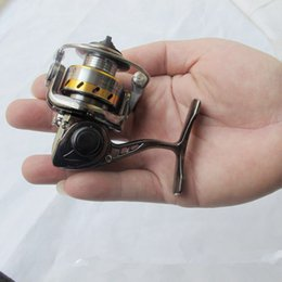 small lures NZ - MN100 Fishing Reel World's Smallest Full Metal Mini Ice Shore Ralfting Lure Winter Pen Rod Spinning Reel
