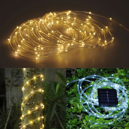 5m 50 led solar power string strip light waterproof copper wire string lights warm white cool white for outdoor christmas party - Solar Powered Outdoor Christmas Lights
